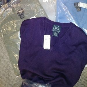NWT JoS. A. Bank V-neck sweaters